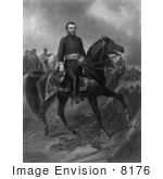 #8176 Picture Of Ulysses S Grant On Horseback