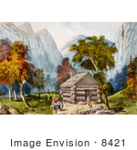 #8421 Picture Of A Log Cabin In Yosemite