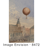 #8472 Picture Of A Balloon Over Town Square