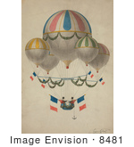 #8481 Picture Of An Air Balloon With 5 Balloons
