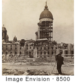 #8500 Picture Of The San Francisco City Hall After Earthquake And Fire