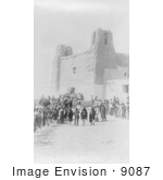 #9087 Picture Of Feast Day At San Estevan Del Rey Mission Acoma Indians