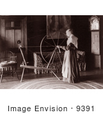 #9391 Picture Of A Spinning Wheel At Wadsworth Hall