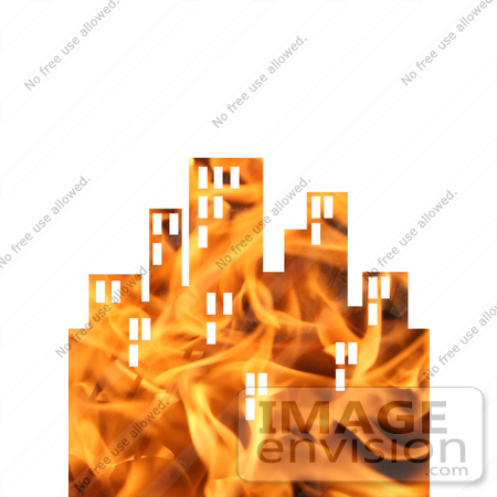 #10884 Picture of a Flaming City by Jamie Voetsch