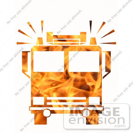 #10887 Picture of a Flaming Fire Truck by Jamie Voetsch