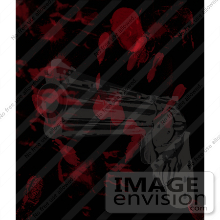 #10964 Picture of Bloody Fingerprints and Gun by Jamie Voetsch