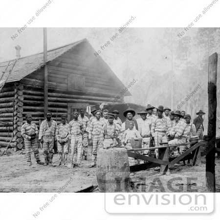 #11006 Picture of a Chain Gang of African American Prisoners by JVPD