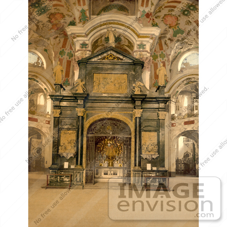 #11764 Picture of the Chapel at Einsiedeln Abbey, Switzerland by JVPD