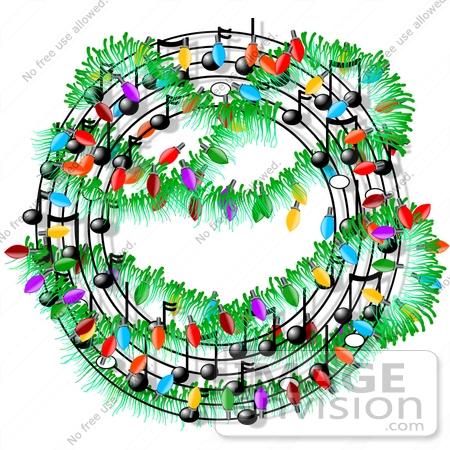Christmas Music Clipart.Circular Christmas Sheet Music Clipart 12596 By Djart