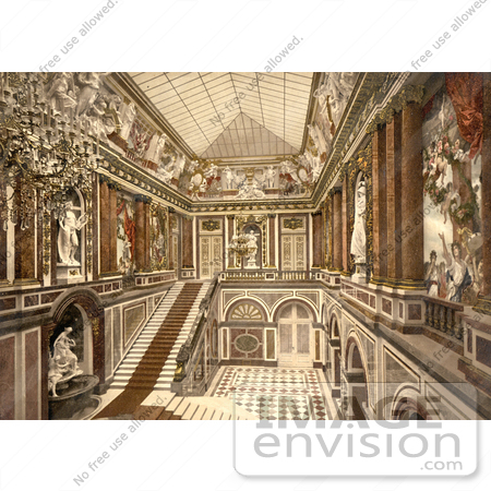 #12857 Picture of the Interior of Herrenchiemsee Castle, Neues Schloss by JVPD
