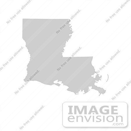 #13174 Picture of a Map of Louisiana of the United States of America by JVPD