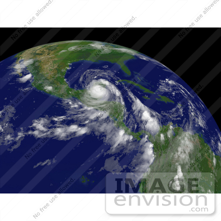 #15357 Picture of Hurricane Dean East-Southeast of Campeche, Mexico by JVPD