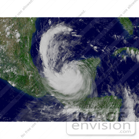#15360 Picture of Hurricane Dean in the Bay of Campeche by JVPD