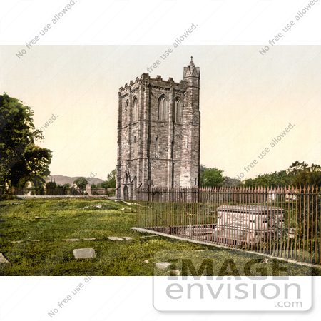 #17778 Picture of Campanile Bell Tower and Tomb of James III, King of Scots at Cambuskenneth Abbey, Stirling, Scotland by JVPD