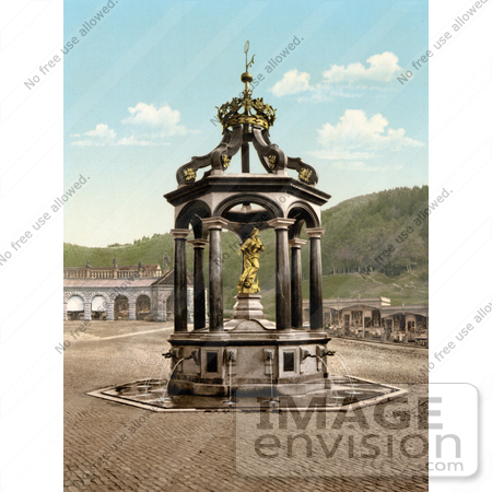 #17938 Picture of The Lady Fountain at Einsiedeln Abbey in Switzerland by JVPD