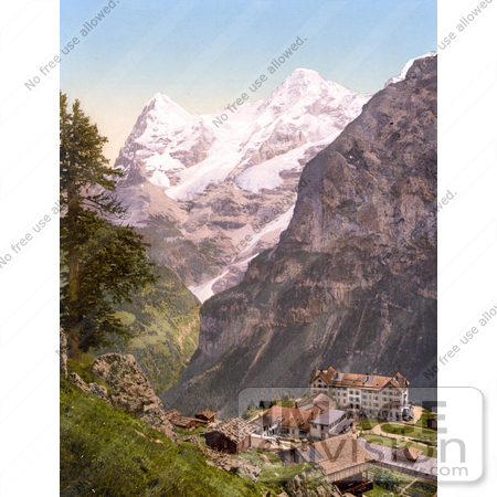#18045 Picture of Hotel des Alps in the Village of Murren, Bernese Oberland, Switzerland by JVPD