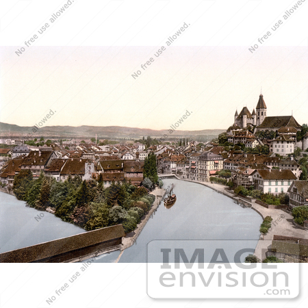 #18046 Picture of the River Aare Flowing Through Thun, Bernese Oberland, Switzerland by JVPD