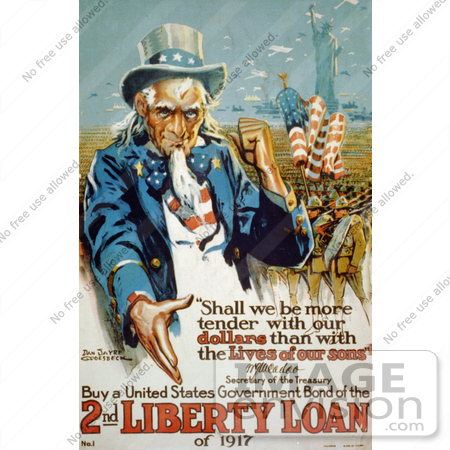#1890 Uncle Sam, Buy a United States Government Bond of the 2nd Liberty Loan of 1 by JVPD