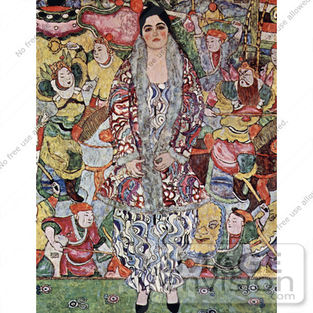 #19056 Photo of a Portrait of Friederike Maria Beer by Gustav Klimt by JVPD