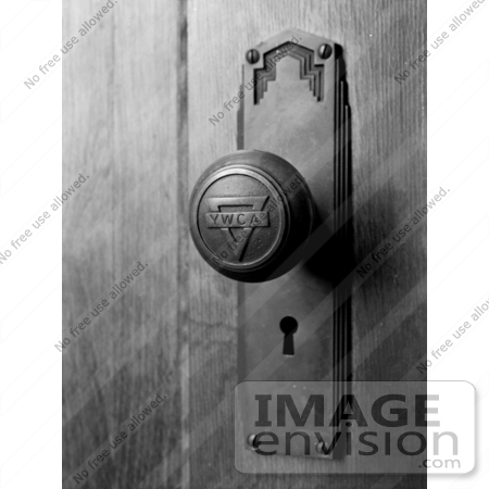 Stock graphy YWCA Door Knob and Keyhole at the Young Women s