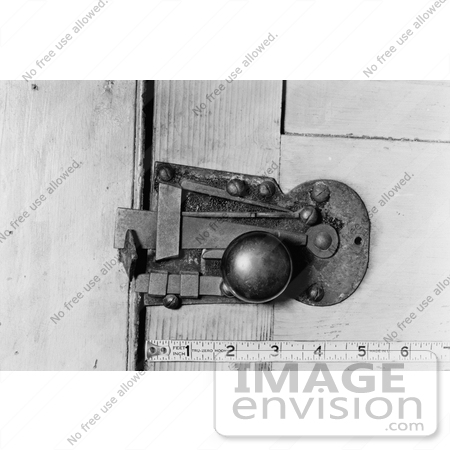 Stock Door Knob and Latch at the Rising Sun Tavern