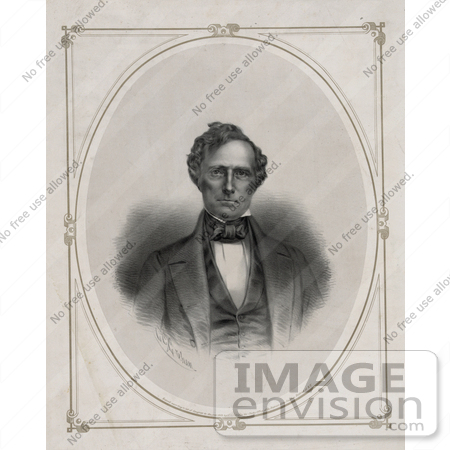 #20299 Historical Stock Photo of Franklin Pierce, the 14th American President by JVPD