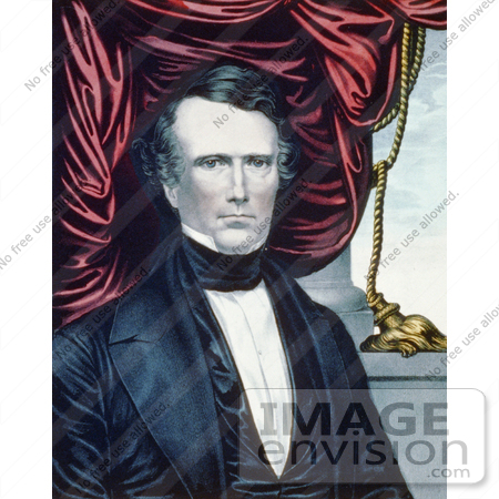 #20302 Historical Stock Photo of the 14th American President, Franklin Pierce by JVPD