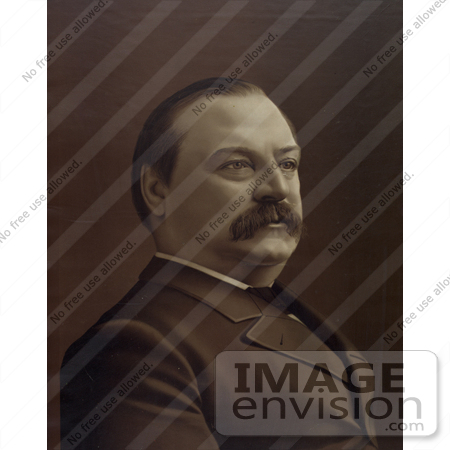 #20304 Historical Stock Photo of Grover Cleveland, the 22nd President of the United States by JVPD