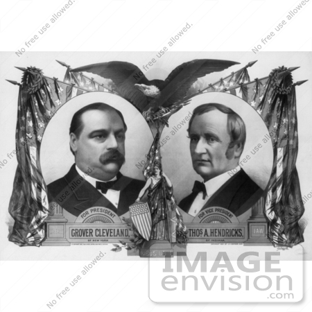 #2412 Grover Cleveland and Thomas A. Hendricks by JVPD
