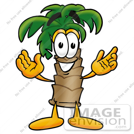 Clip Art Graphic Of A Tropical Palm Tree Cartoon Character With Welcoming Open Arms 25013 By Toons4biz Royalty Free Stock Cliparts Cartoon character 01 from the set 01. tropical palm tree cartoon character