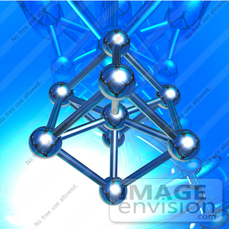 #31727 Iron Molecule Conceptual 3D Illustration by Oleksiy Maksymenko