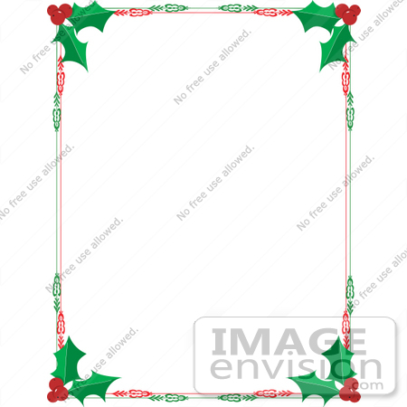 Free Printable Christmas Stationery Borders.Clip Art Graphic Of A Red And Green Holly Christmas