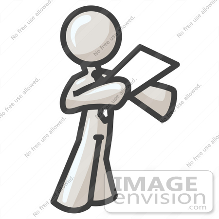 #37596 Clip Art Graphic of a White Guy Character Giving a Speech by Jester Arts