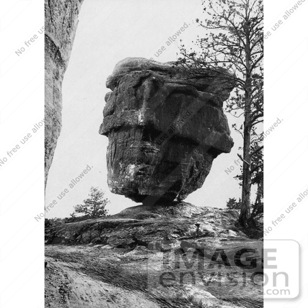 #40780 Stock Photo of Balanced Rock in the Garden of the Gods, Colorado Springs, Colorado by JVPD
