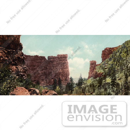 #40824 Stock Photo of The Sandstone Rock Formation Of Castle Gate In Utah by JVPD