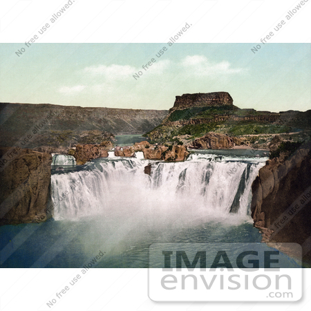 #41071 Stock Photo Of Waterfalls Of The Shoshone Falls On The Snake River In Idaho by JVPD