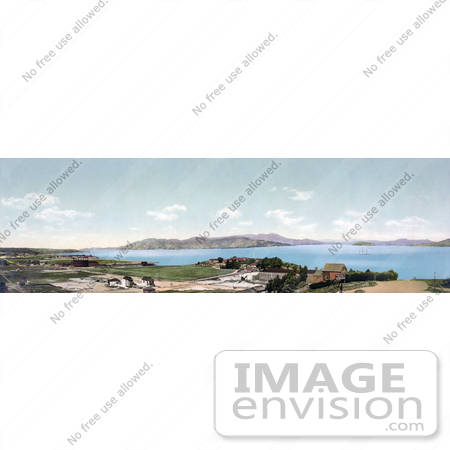 #41115 Stock Photo Of A Panoramic View Of Mount Tamalpais And The Golden Gate, San Francisco, California by JVPD