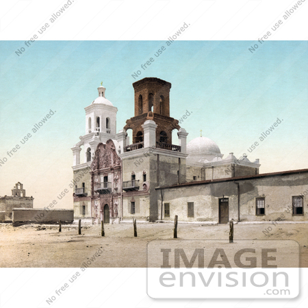 #41129 Stock Photo Of The Spanish Catholicmission, Mission San Xavier Del Bac, Near Tucson, Arizona by JVPD