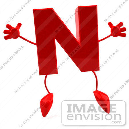 letter of character royalty free rf illustration of a 3d letter n 1385