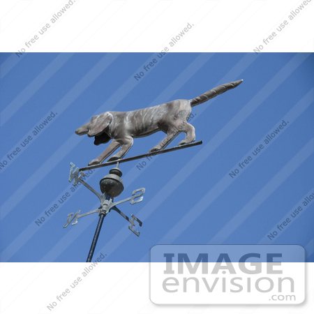 #53735 Royalty-Free Stock Photo of a Dog Weathervane by Maria Bell