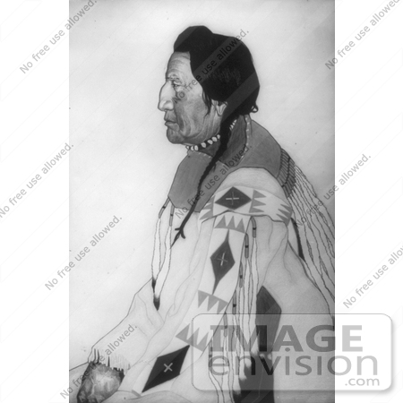 #6822 John Two-Gun White Calf, Blackfoot Indian Chief by JVPD