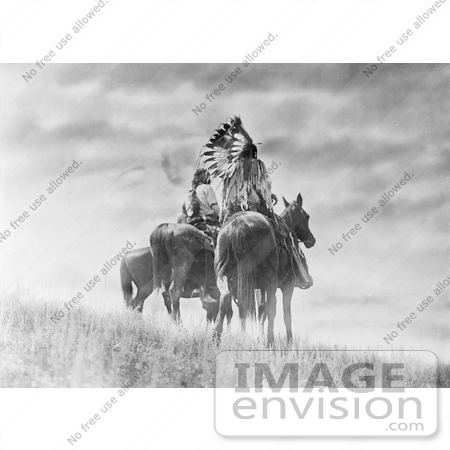 #6962 Stock Image: Cheyenne Native American Warriors on Horses by JVPD