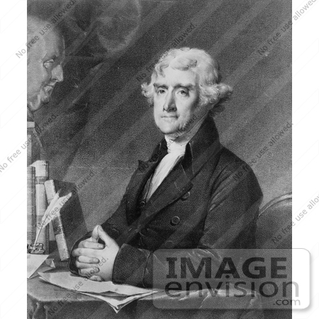 #7698 Picture of Thomas Jefferson, 3rd President of the United States by JVPD