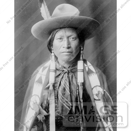 #9109 Picture of a Jicarilla Man in Cowboy Attire by JVPD
