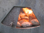 Charcoal Burning in Barbecue Grill