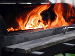 Flames from a Barbecue Grill