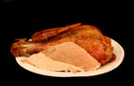 Thanksgiving Turkey Leftovers on a Paper Plate