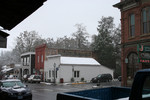 Snow Falling in Jacksonville, Oregon