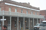 Snow Falling in Front of the United States Hotel, Jacksonville, Oregon