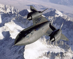SR-71 Over Snow Capped Mountains 01/01/1995